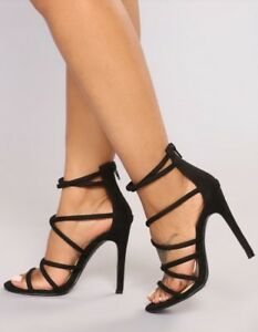 Brand new in box strappy suede heels