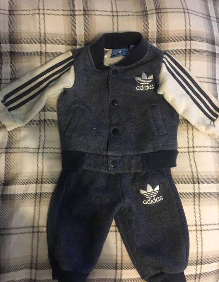 e466cbfbc30 Adidas baby tracksuit and Ralph Lauren romper