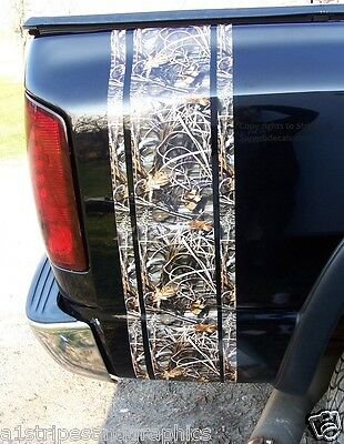 REAL TREE M4 Camo Bed side stripe Stripes Silverado Ram F250 F150 F350 Mossy Oak