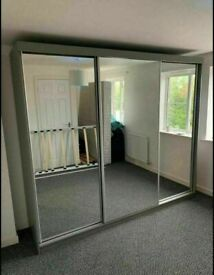 💥💯CLOSEOUT SALE 2 AND 3 DOORS SLIDING WARDROBES WITH FULL MIRRORS, SHELVES, RAILS