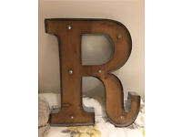 LED letter light wall mounted