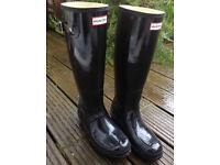 Ladies Hunter Wellington Boots size 8