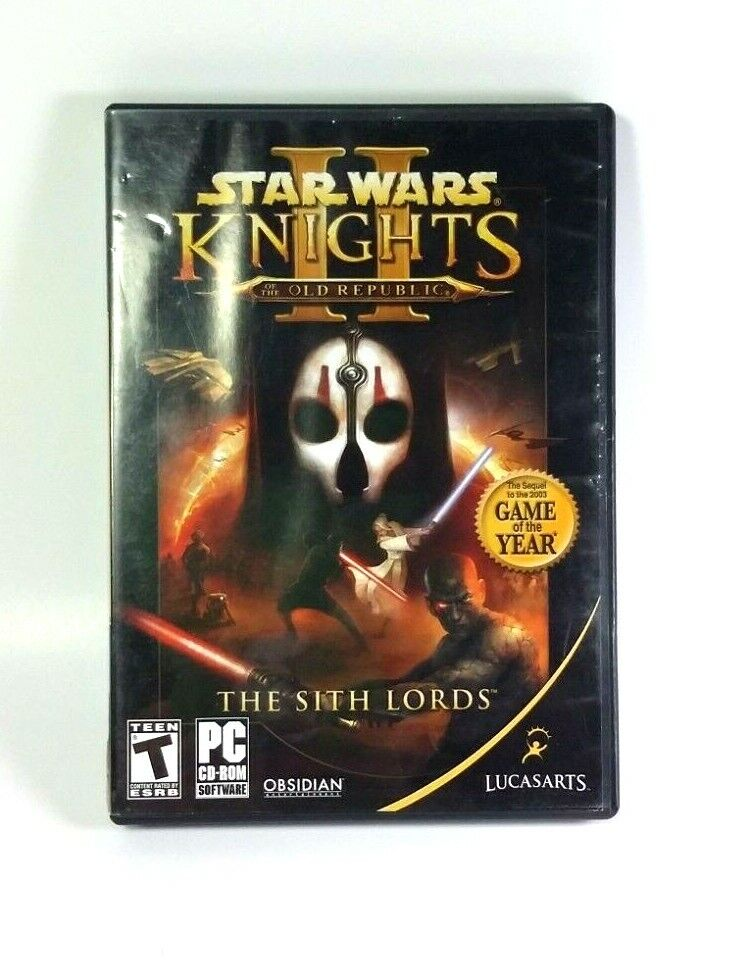 Star Wars Knights Of The Old Republic II PC LucasArts CD-Rom Software 4 Disc Set - $11.00