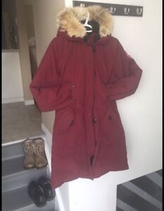 Manteau hiver canada goose small rouge
