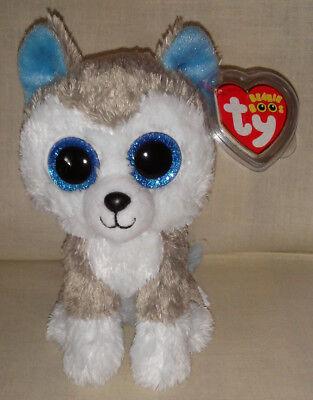 2016 Ty Beanie Boos Slush Husky Dog 7  Birthday April 30 Current Mwt