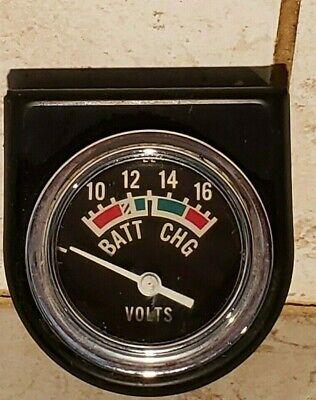 Vintage Ac Spark Plug Div-g.m. Dash Mount 10-16 Voltmeter - Steampunk