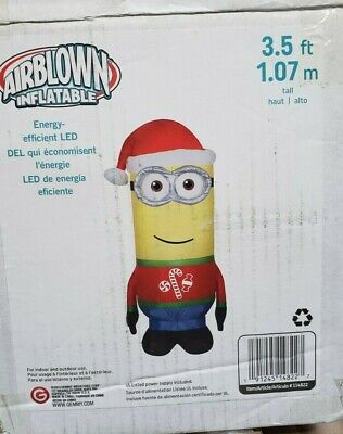 Gemmy 3.5ft Minion Kevin in Christmas Sweater Inflatable