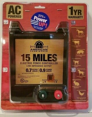 American Farmworks 15-mile Electric Fence Controller Ac Powered Eac15m-afw