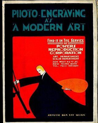 CA 1920 ART DECO NEW YORK THEATER ADVERTISING POSTER