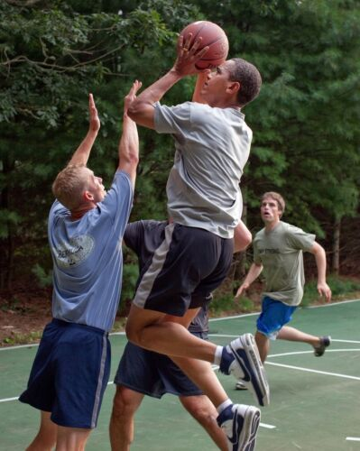 President Barack Obama Playing Basketball Color  8 X 10 Photo Picture