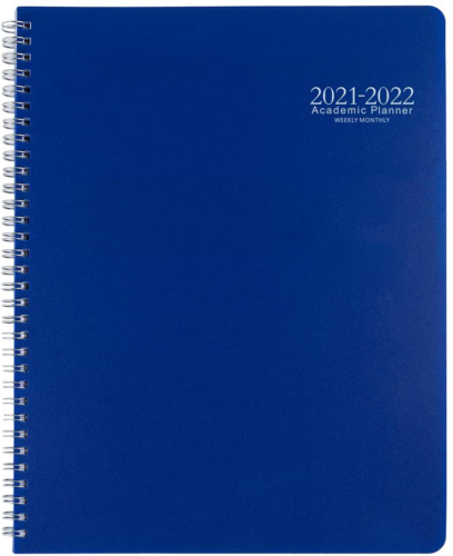 Academic Planner 2021-2022 Monthly Calendar with Hard PVC Co