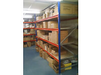Longspan Shelf Racking Bay 2500mm (H), 2700mm (W), 1200mm (D) and 4 Chipboard Levels [Second Hand]
