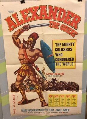 "BURTON,RICHARD ""Alexander The Great"" Original Movie Poster 1960"