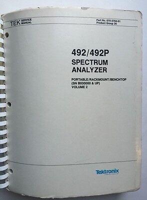 Tektronix 492492p Service Manual Vol 2 Pn 070-3784-01 Rev Apr 1985