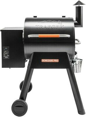 Traeger Renegade Pro Wood Pellet Grill Smoker in Black Front Folding Shelf New