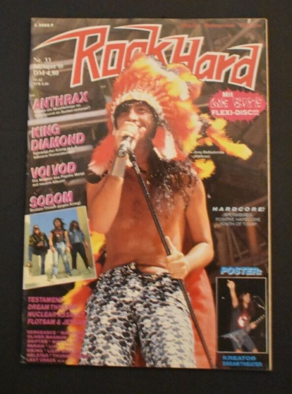 Rock Hard Germany Magazine 1989 Issue # 33 Anthrax King Diamond