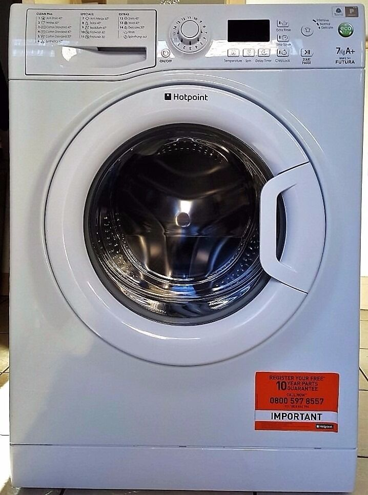 Hotpoint 7kg capacity washing machine 1400 spin les than 1 year old 100% perfect conditions
