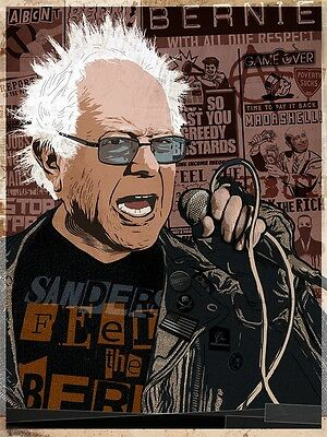 Bernie Sanders Poster 18X24 Abcnt So Punk Our Revolution Tyt The Young Turks