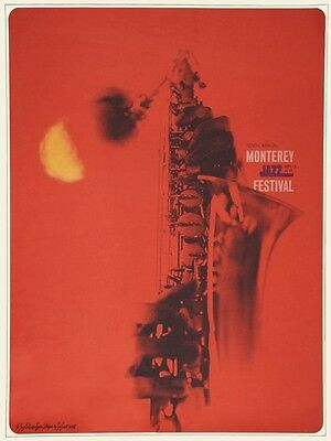 Monterey Jazz Festival POSTER 1967 Dizzy Gillespie Janis Joplin Ornette Coleman