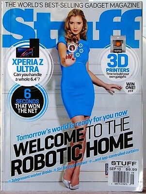 STUFF  Magazine WORLDs BEST SELLING GADGETS 3-D Printer ROBOTIC HOME Printed UK