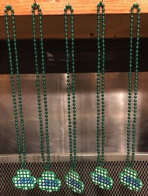 BUD LIGHT Beer ~ LOT OF 5 ~ ST PATRICKS Day SHAMROCK ~ MARDIS GRAS Beads