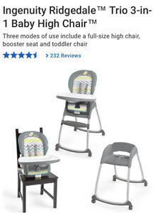 Like new 3-in-1 high chair