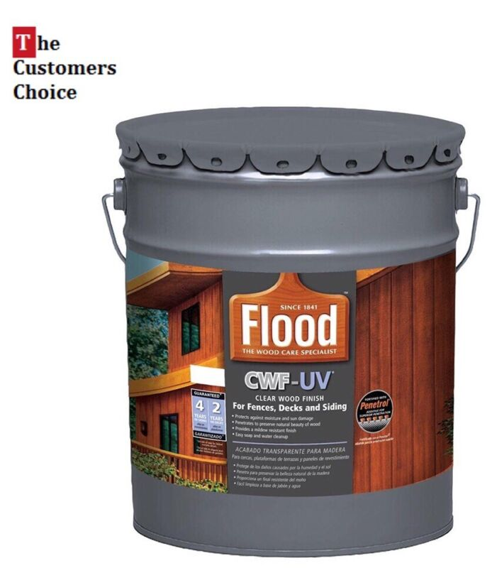 Best Clear Color UV Based Exterior Wood Finish Fences Decks Siding Stain 5 Gal
