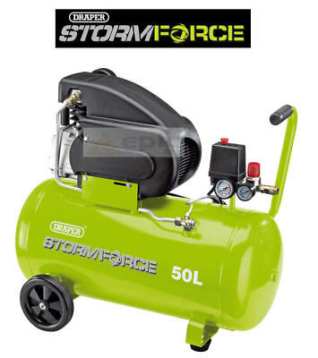Draper Storm Force 50 Litre Workshop Air Tool Compressor 2HP 8 Bar 116PSI, 05713
