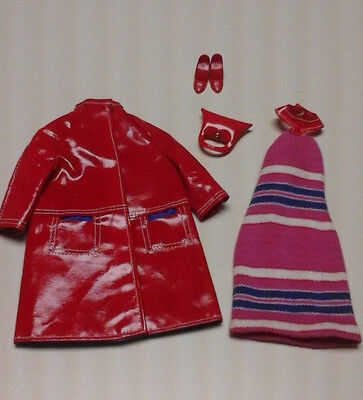 VINTAGE BARBIE DOLL OUTFIT FASHION SHINER MATTEL TAG 1967 #1619