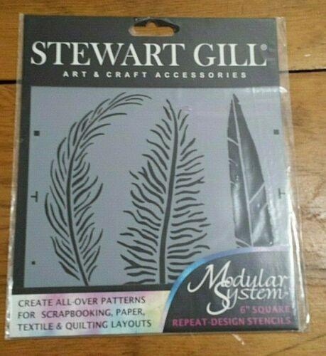 "STEWART GILL FEATHER 6"" MODULAR SYSTEM STENCIL FREE SHIPPING"