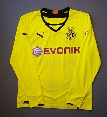61135955720 4.9 5 Borussia Dortmund shirt 2013 2014 football home jersey long sl. large  Puma