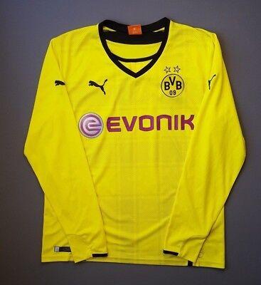 f64dfa17488 4.9 5 Borussia Dortmund shirt 2013 2014 football home jersey long sl. large  Puma