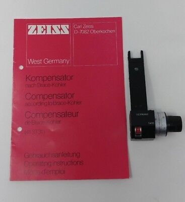 Zeiss Microscope Compensator According To Brace-kohler For Polarizing 20mm X 6mm