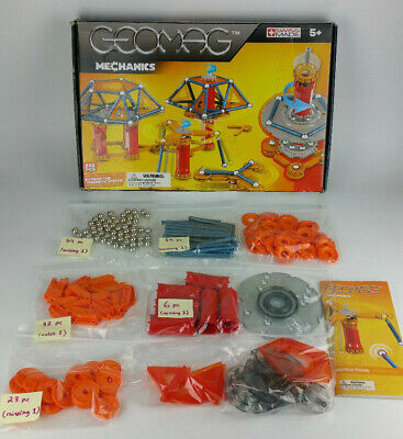GEOMAG 222 Piece Mechanics Magnetic Toys Construction Set Game ages 5 up -