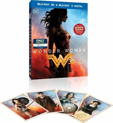 WONDER WOMAN 3D BEST BUY EXCLUSIVE BLU RAY + COLLECTIBLE TRADING CARDS (Best Military Sci Fi)