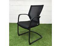 Techo Sidiz black mesh back meeting chair cheal
