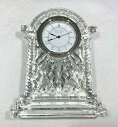 Waterford Crystal Lismore Carriage Clock (Large 7 Tall)