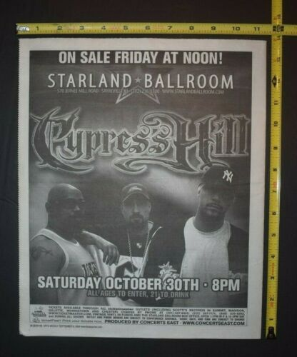 Cypress Hill 2004 Concert Ad Starland Ballroom NJ