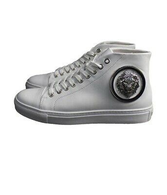 Versace Mens High Top.+ Shoes - White Leather - Size 6 Mens Next Day Dispatch