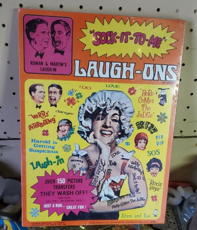 Vintage Laugh-In Laugh ON Tattoos MiSB - SUPER RARE  GOLDIE HAWN