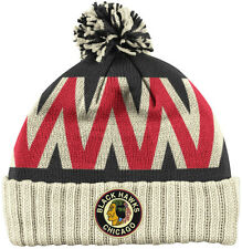 CHICAGO BLACKHAWKS 2009 NHL WINTER CLASSIC REEBOK CUFFED POM KNIT HAT TOQUE