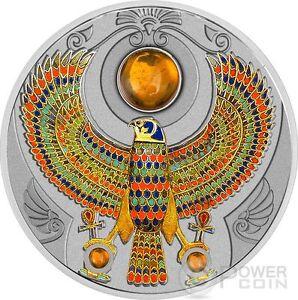 FALCON OF TUTANKHAMUN Horus Amber 2 Oz Silver Coin 2$ Niue 2017 - Italia - FALCON OF TUTANKHAMUN Horus Amber 2 Oz Silver Coin 2$ Niue 2017 - Italia