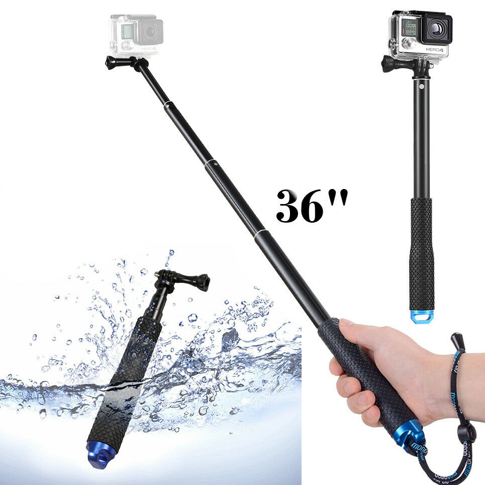 36″ Waterproof Extension Pole Selfie Stick for GoPro Hero/Session 8 7 6 5 4 3+ 3 Cameras & Photo