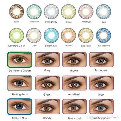 Vibrant Color Contacts Eye Lenses Colorblends Cosmetic Makeup Lens LAST 1 - Colorful Eye