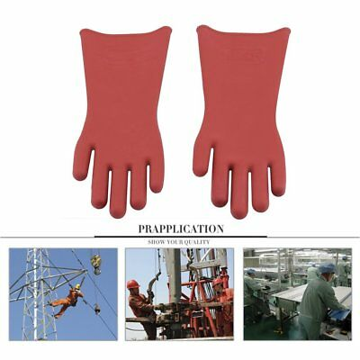 High Voltage Insulation - Insulated 12kv High Voltage Electrical Insulating Gloves For Electricians ND