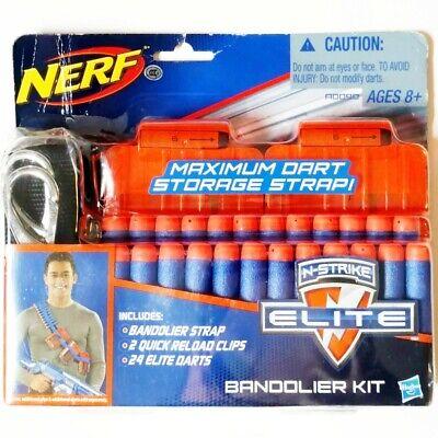 Nerf N-Strike Elite Series Bandolier Kit Maximum Dart Storage Strap Clips