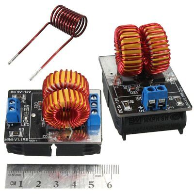 - 5V-12V Low Voltage ZVS Induction Heating Power Supply Module + Heater Coil ND