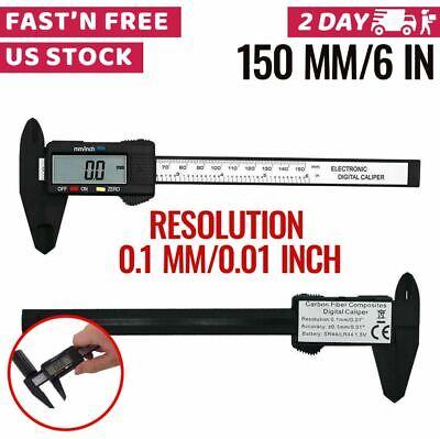 Digital Caliper Vernier Micrometer Electronic Ruler Gauge Meter 150mm 6 Inch
