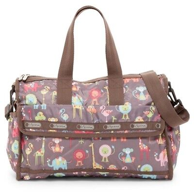 NWT LeSportsac Nylon Baby Travel Bag & Changing Pad ZOO BUDDIES