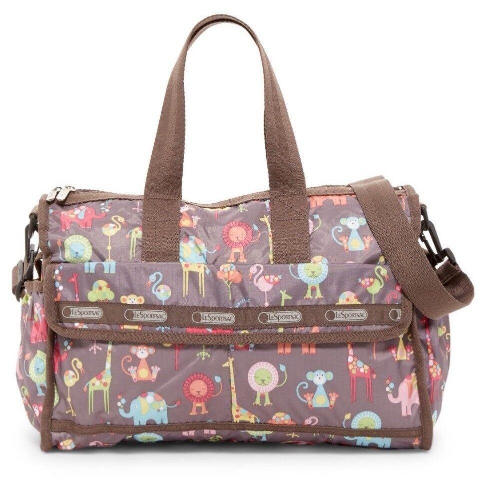 LeSportsac Nylon Baby Travel Diaper Bag & Changing Pad ZOO B